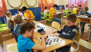 Третий турнир по шашкам среди дошколят