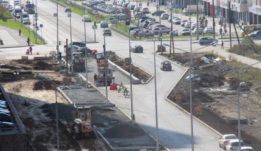На ремонтируемом участке улицы Мехренцева открыли выезд на Краснолесья