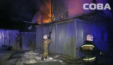 В нулевом квартале Академического сгорели строительные вагончики