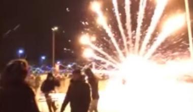 В новогоднюю ночь в 7 квартале фейерверк взорвался у мужчины в руках