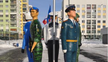 Во 2 квартале открыли скульптурную композицию в честь Вооруженных сил России