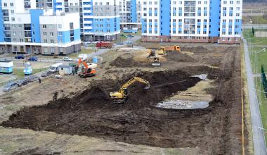 В блоке 5.6 началось строительство детского садика
