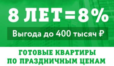 К 8-летию района: специальные праздничные цены на готовые квартиры