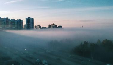 Октябрьский туман в Академическом