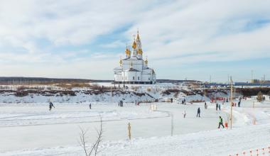 Каток возле Храма закрыли из-за работ по благоустройству Преображенского парка