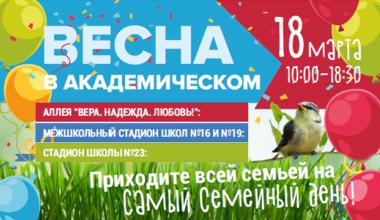 В день выборов в Академическом пройдут караоке-баттл, семейные спартакиады, конкурсы и концерты