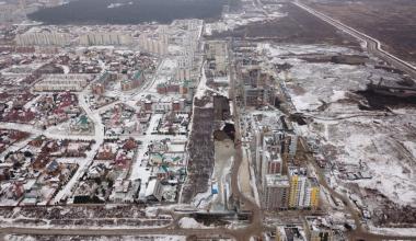 Ход строительства проспекта Академика Сахарова с самого начала