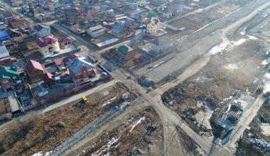 Ход строительства улицы Тенистой с самого начала