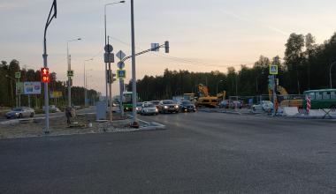 Проезд через кольцевую развязку Объездной дороги открыт в сторону Центра