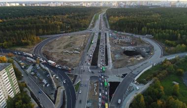 Движение сквозь кольцо Объездной дороги открыли в оба направления