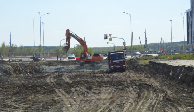 В Академическом началось строительство улицы Чкалова