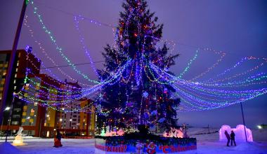 Ледовый городок открылся в Преображенском парке