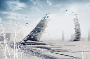 «Падающие» небоскрёбы в Академическом