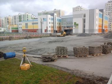 Строительство хоккейного корта