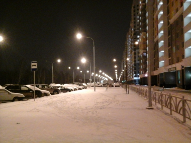 Улица Рябинина освещена
