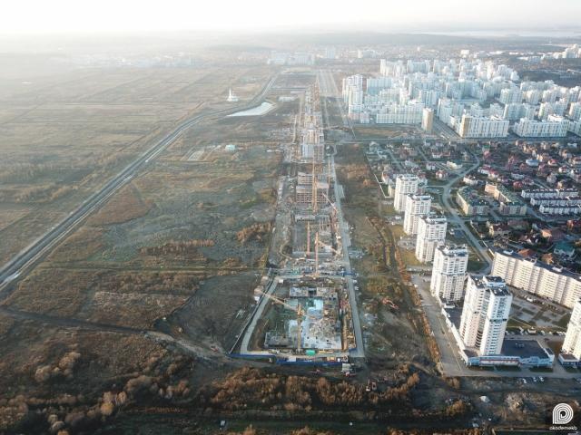 Строительство второй и первой очереди нулевого квартала, проспекта Академика Сахарова и Преображенского парка