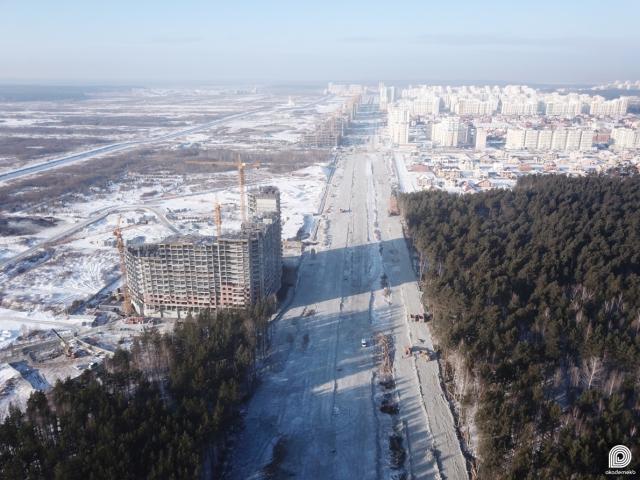 Строительство проспекта Академика Сахарова в Академическом