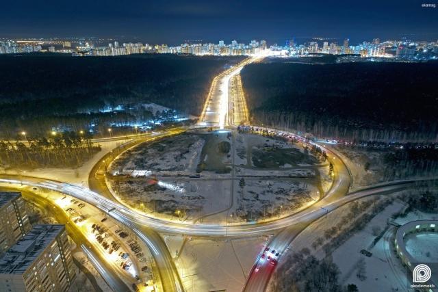 Строительство развязки Объездной дороги с Академическим