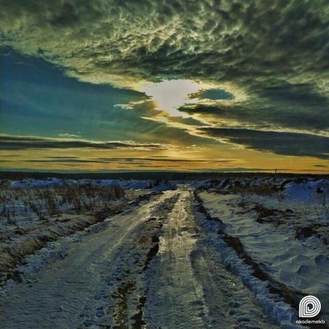 Пейзаж дорожки за Патрушихой как будто нарисован масляными красками