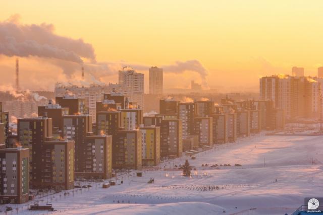 В это морозное утро на термометрах было -31℃