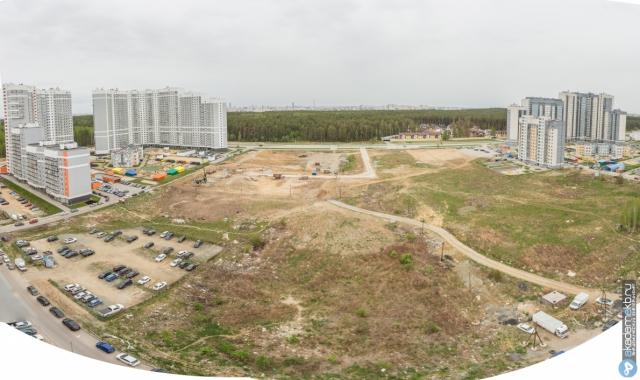 Пока пустая территория между одними из крупнейших многоквартирных домов города — ЖК «Полесье-2» и ЖК «Балтийский»
