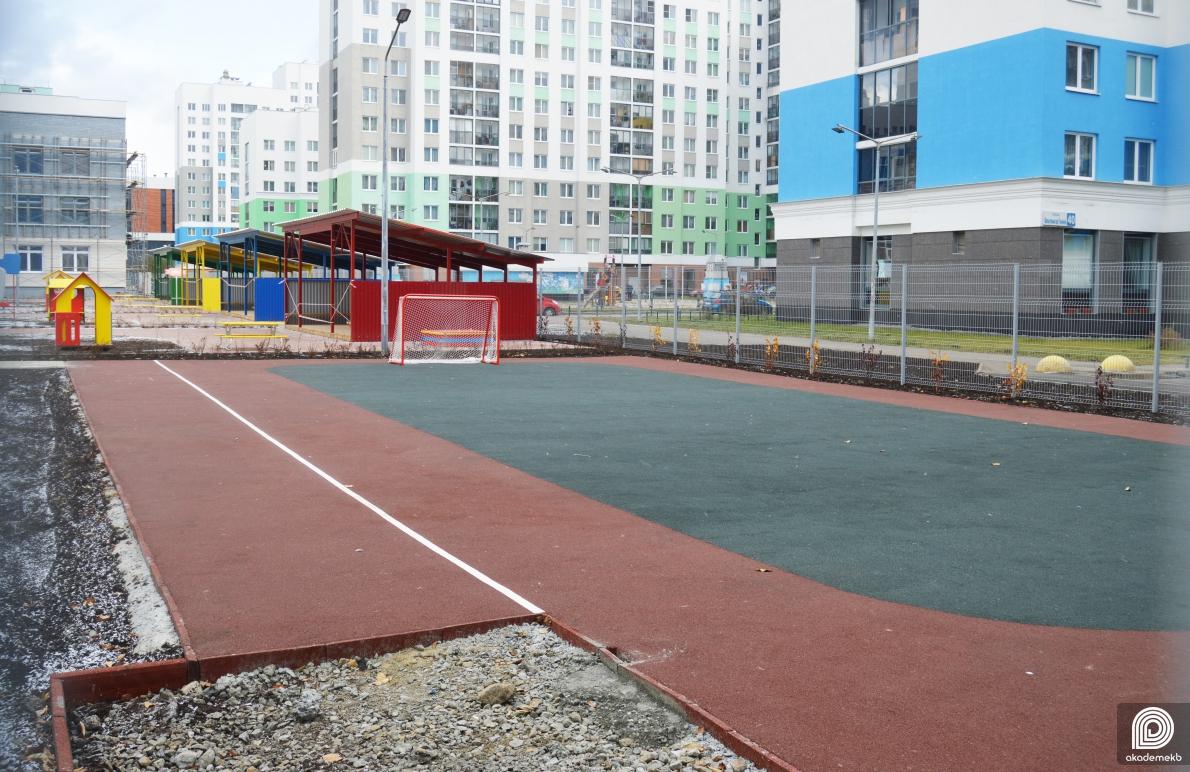 Ход строительства детского сада в блоке 5.1