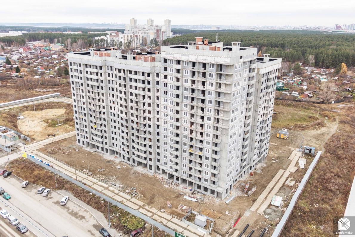 В Рябиновом квартале приступили к покраске фасада первого дома