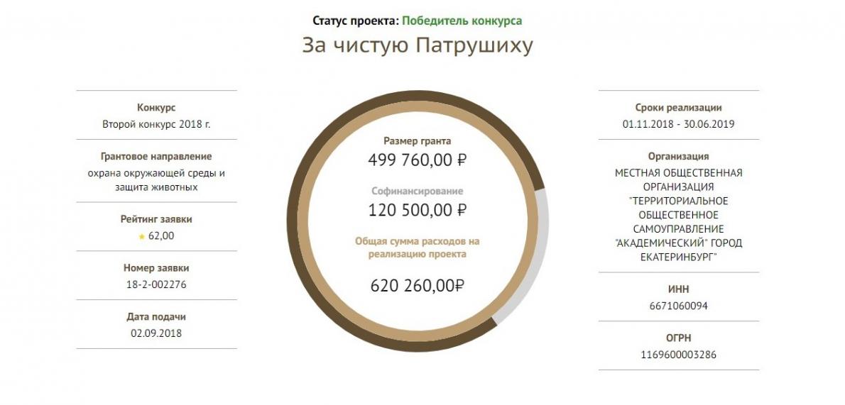 Проект «За чистую Патрушиху» победил в конкурсе президентских грантов