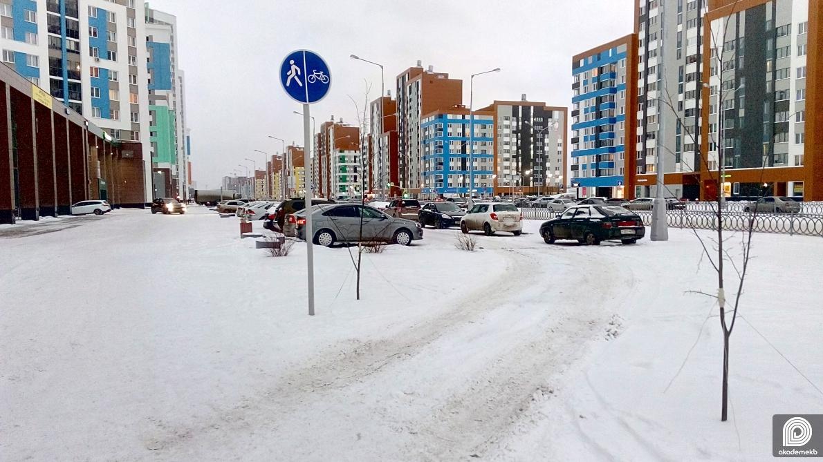 Жительница Академического выразила недовольство против парковщиков на тротуарах
