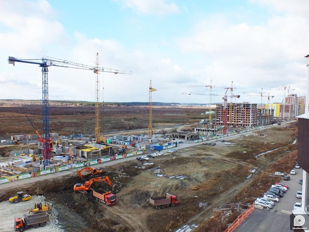Ход строительства проспекта Академика Сахарова